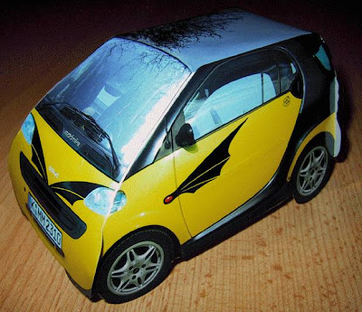 Dragon Wing Tattoo Smart Car Papercraft