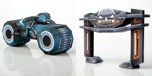 Les jouets en papier Tron+Legacy+Papercraft