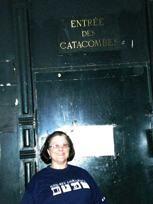 At the Catacombs in Paris