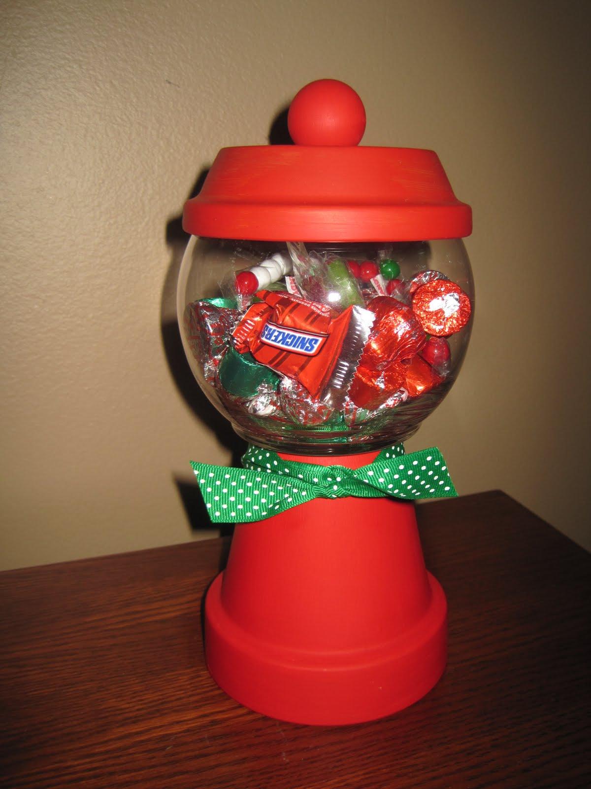 bunch of craft  christmas candy jar