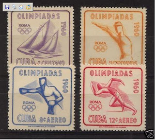 cuba stamps 1960 olympic games