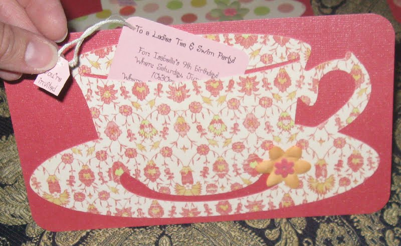 WannabeCrafter Katies Blog Tea Party Invites and kids crafting – Tea Party Invitations for Kids