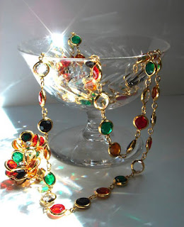 vintage swarovski multi color crystal