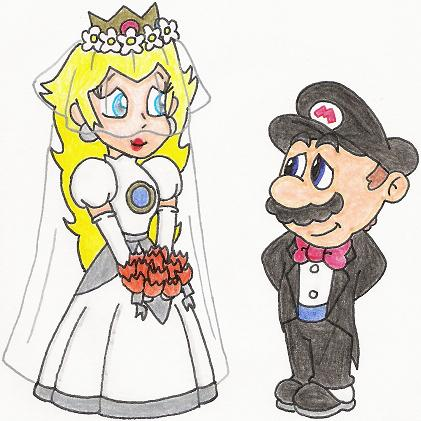 princess peach and bowser kissing. gave kidnap princess peach
