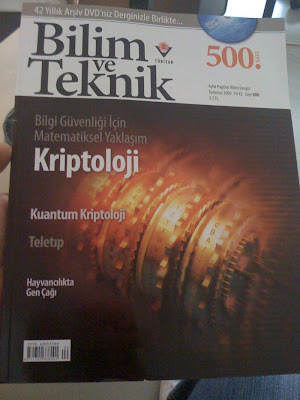 Fotoğraf: Bilim ve Teknik dergisi kapağı