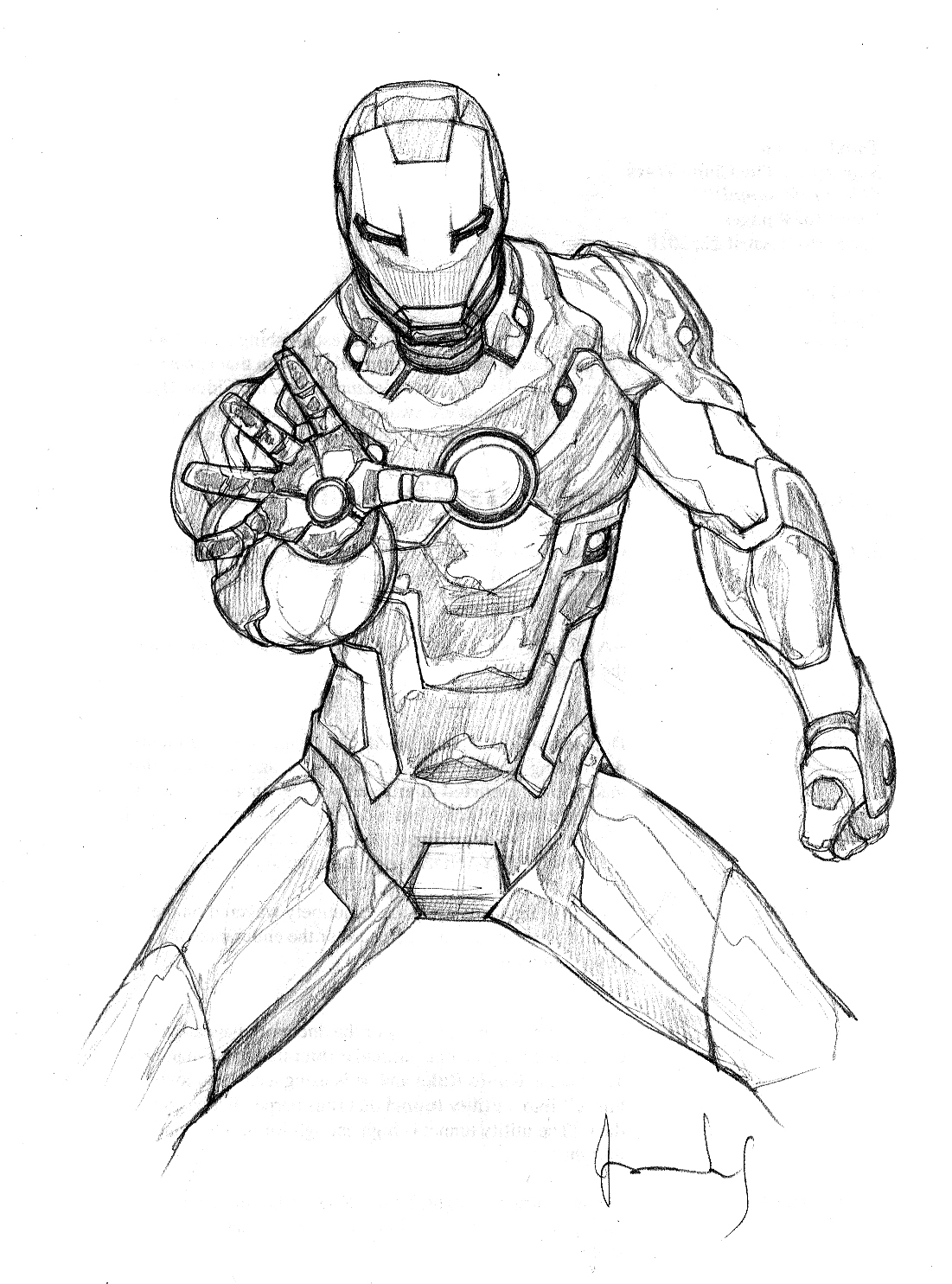 andres ponce art iron man scketches