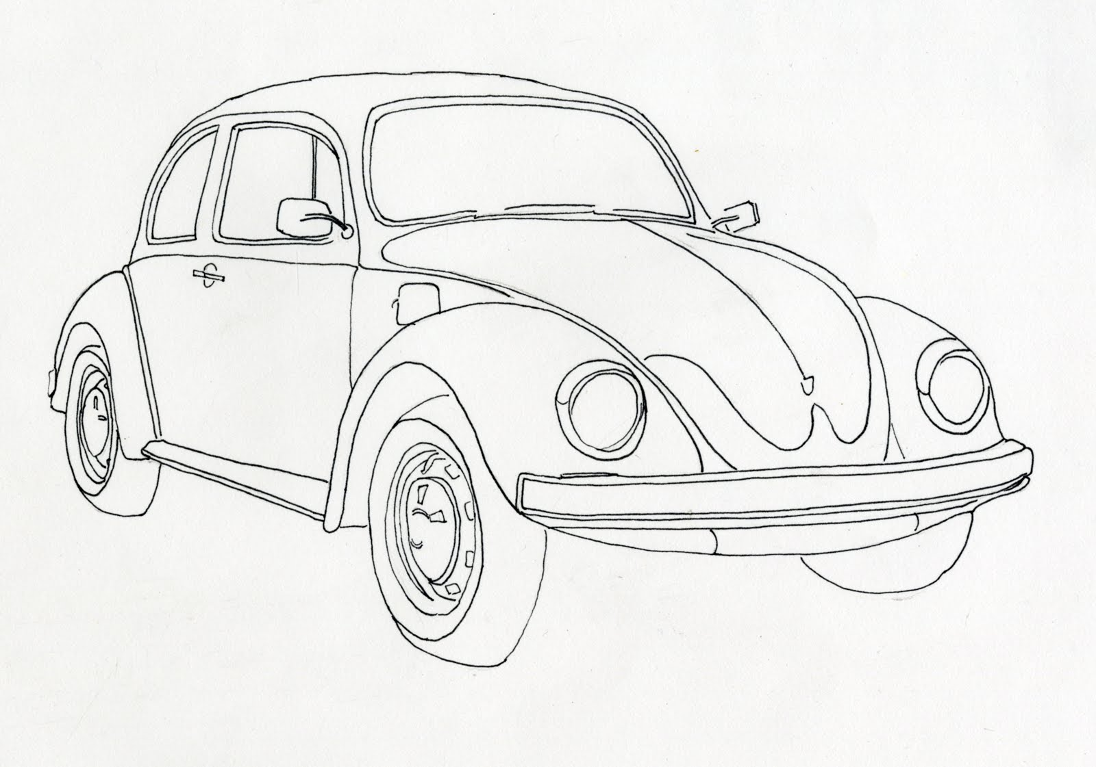 how to draw the top of a car