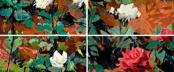 Dibujos de flores para imprimir sobre lienzo