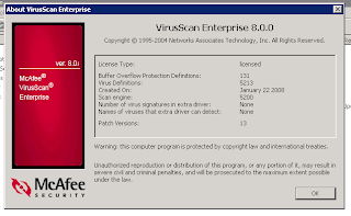 McAfee VirusScan Enterprise 8.5i Plus Patch 6.rar Server-VS-Version