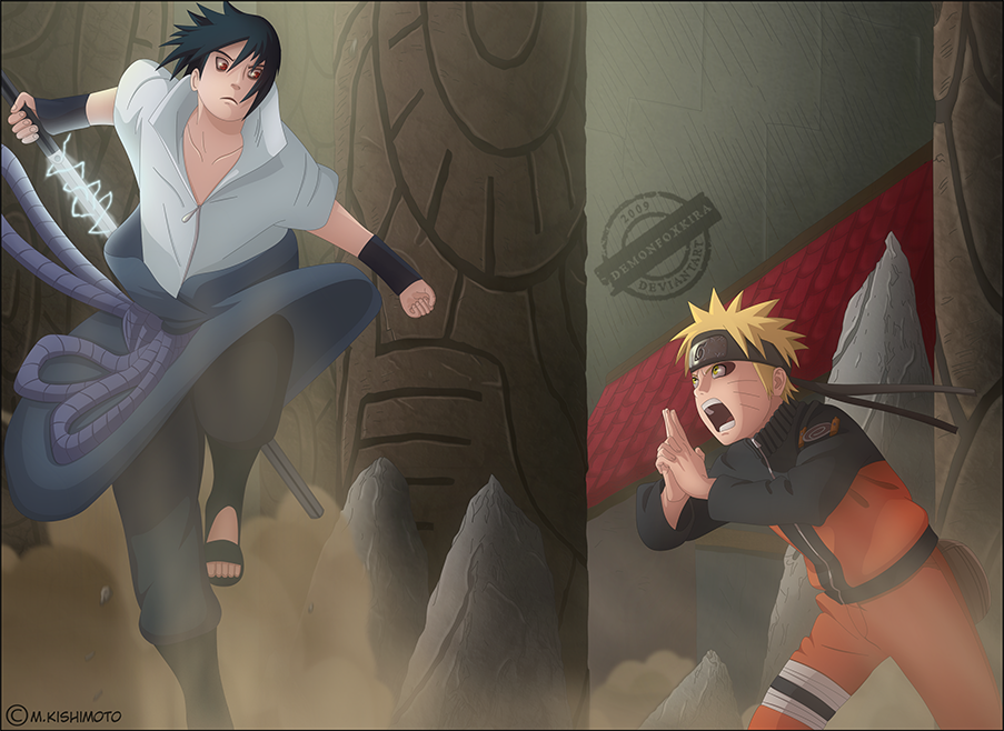 naruto vs sasuke demon