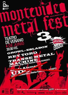 Montevideo Metal Fest 3 - UDO no viene