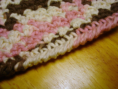 Crocheted Washcloth: Diamonds - Little House in the Suburbs