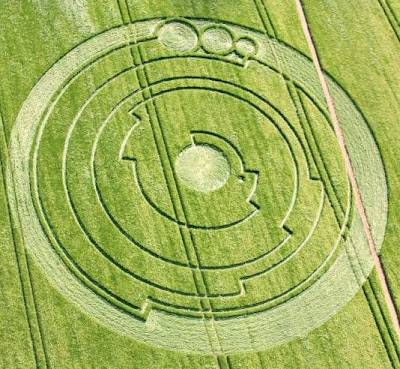 Barbury Castle Crop Circle Circulo de colheita