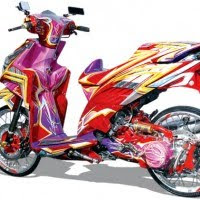 MODIFIKASI Full AIRBRUSH GRAFIS HONDA VARIO