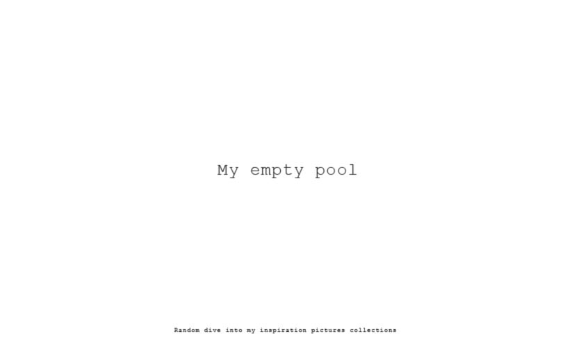 My empty pool