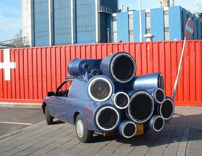 Super sound DJ's car