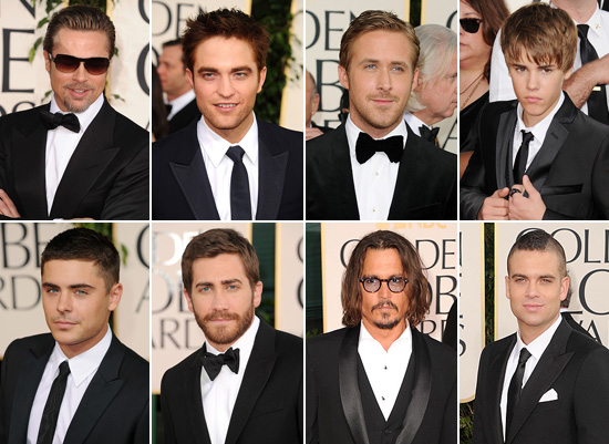 Hot Guys At The Golden Globes