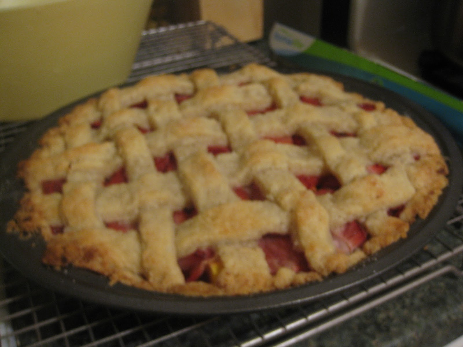 You Bake Me Crazy: Strawberry-Mango Pie