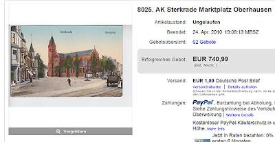 8025. AK Sterkrade Marktplatz Oberhausen