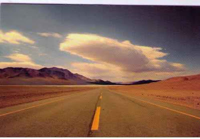 Road in the desert of Gobi China