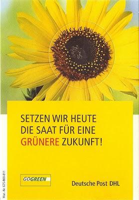 Sonnenblume DHL GoGreen