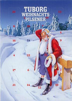 Postkarten Adventskalender von Tuborg