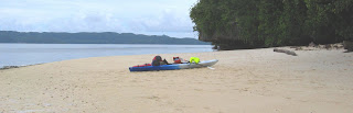 Kayak on Lee Marvin Beach Palau