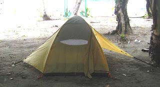 Camping Tent on Rock Island, Palau