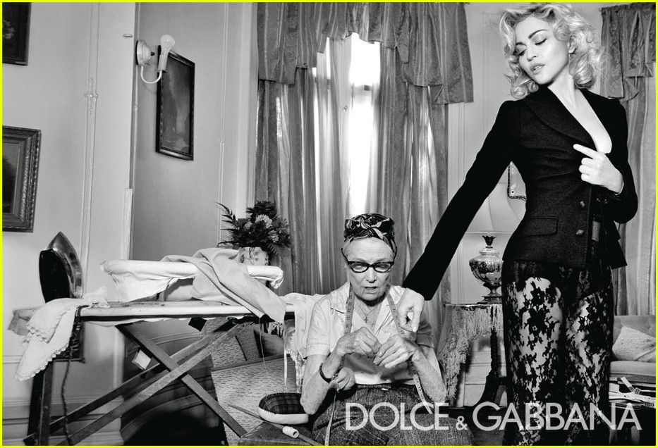 fashion parade madonna s d g ad campaign. Black Bedroom Furniture Sets. Home Design Ideas