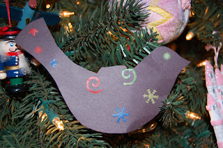 stained glass dove silhouette ornament