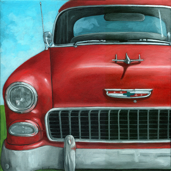 Vintage Car Paintings Painting a Day Art Blo...