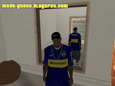 Camisa do Boca Juniors para GTA San Andreas