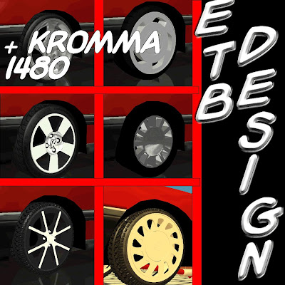 Pack de Rodas By ETB Design para GTA San Andreas
