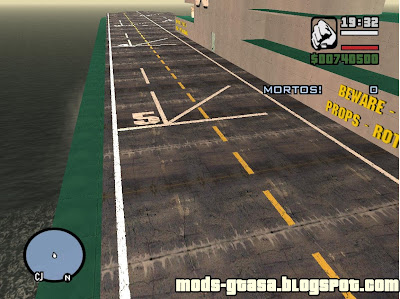 Aircraft Carrier Tropic para GTA San Andreas