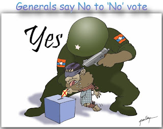 >Cartoon – Generals say No to 'No' vote