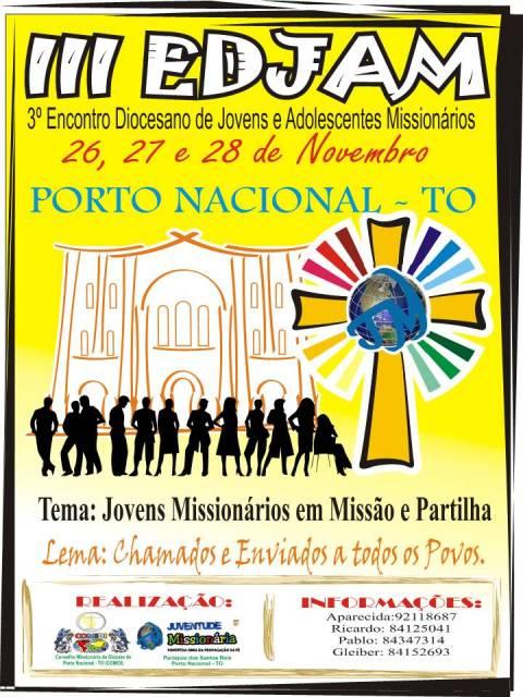 Diocese de Porto Nacional realizará III EDJAM