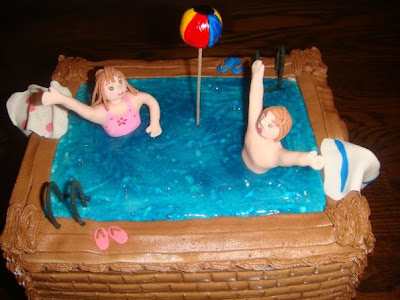 Swimming Pool Cake 3D
