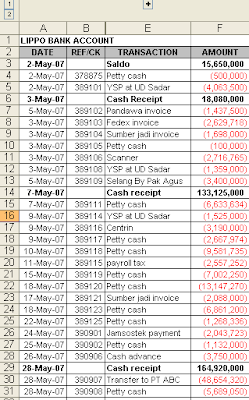 trick membuat direct cash flow report dengan excel accounting