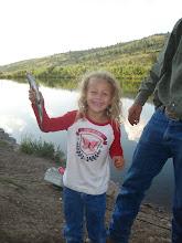 Reagan's first fish.