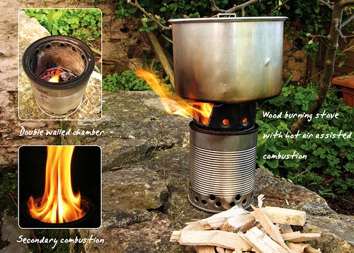 The Outdoor Lab Homemade Bushbuddy Ultra Wood Burning Camping Stove