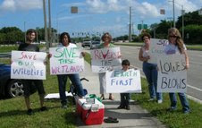 Coconut Creek residents and Everglades Earth First! protest Lowes Development