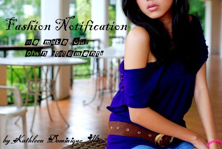 Fashion Notification