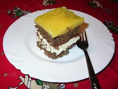 Túrós-narancszselés sütemény
