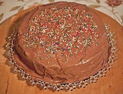 Lúdláb torta mogyoróval