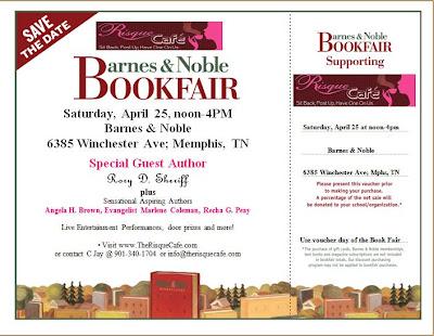 Book Fair flyer and Voucher