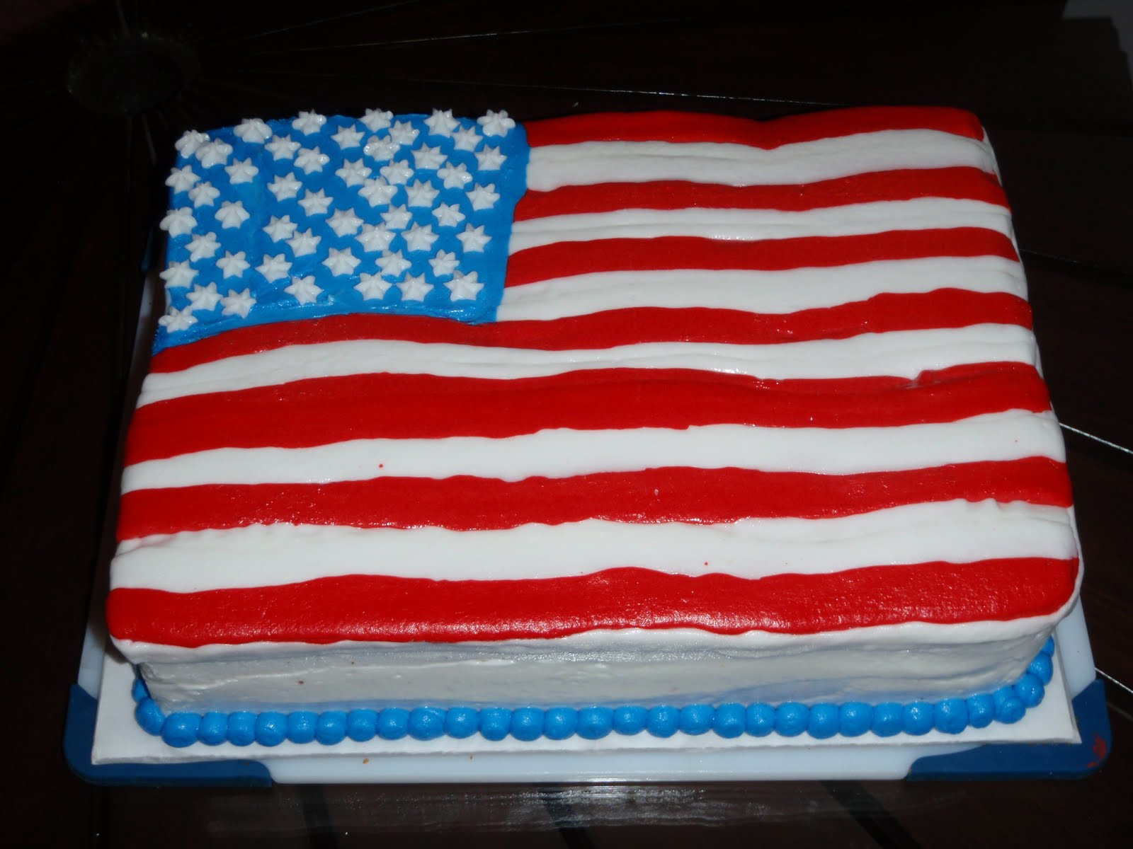 Confections By Courtney: 4th of July Flag Cake