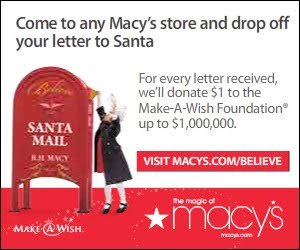 "*contest closed*A Million Reasons to ""Believe"" with Macy's *Giveaway*"