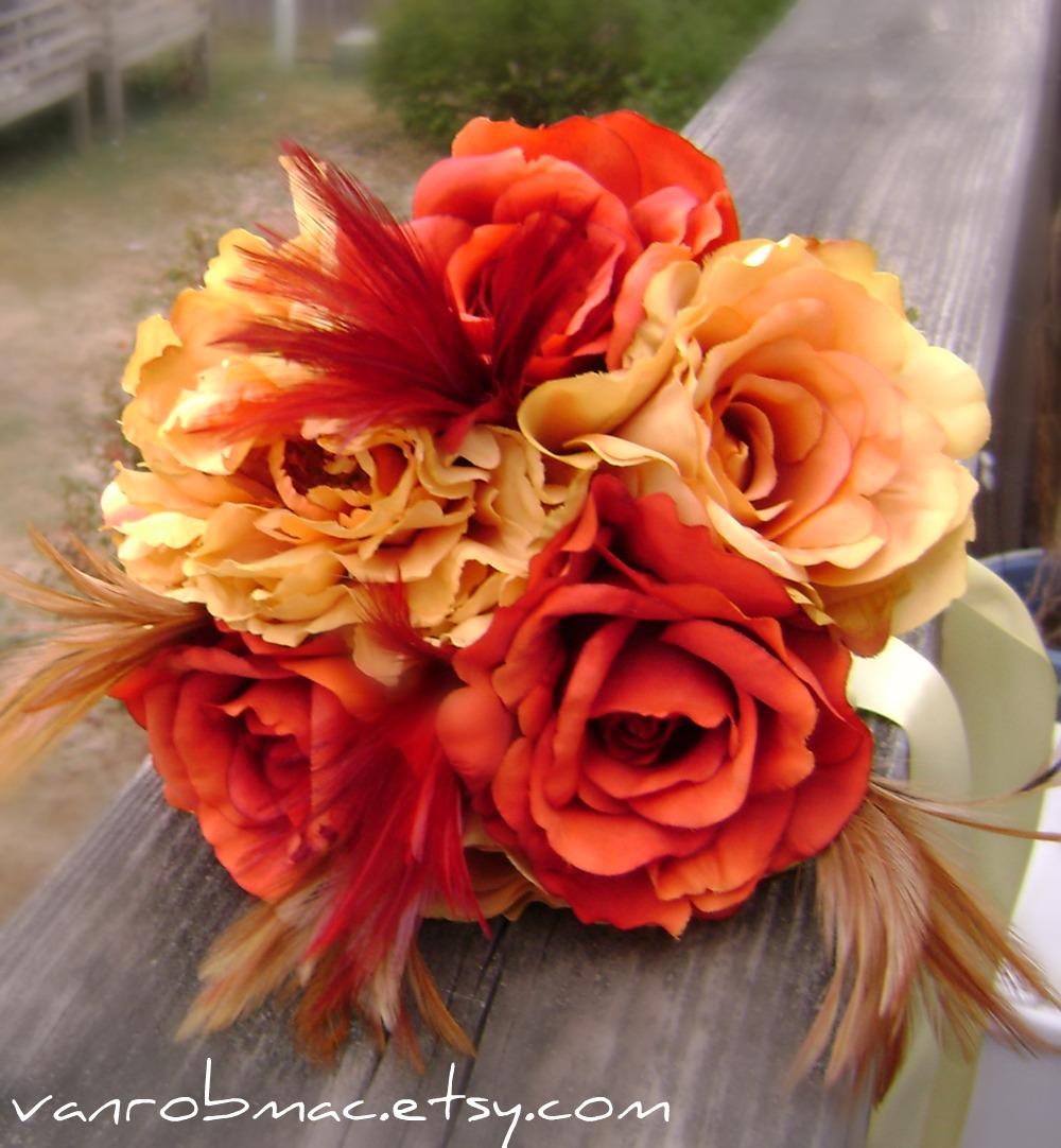 Vanessa Robert Weddings Feather Wedding Bouquet