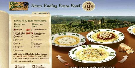Olive garden restaurant promotion for Olive garden endless pasta bowl