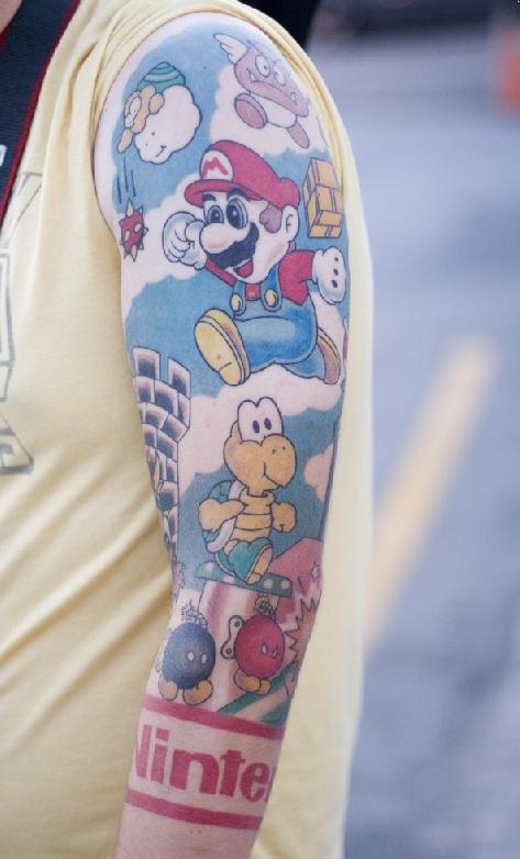 Super Mario Tattoo Sleeve